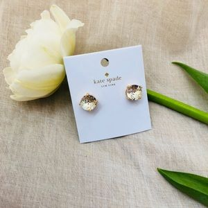 KATE SPADE CUBIC ZIRCONIA GOLD GUMDROP EARRINGS
